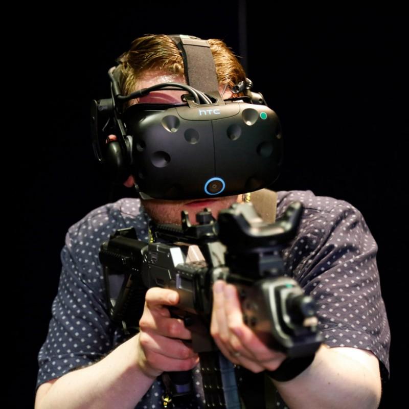 PP Gun автомат для HTC Vive c Vive Tracker 1.0
