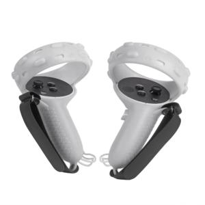 Силиконовые чехлы для контроллеров Oculus Quest 2 с ремешками, белые (2 шт)